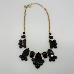 Kate Spade Black Gold Statement Necklace